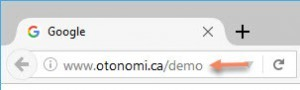 "URL ""DEMO"" du site OTO Nom-i"